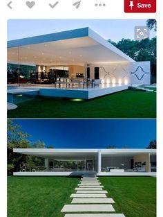 Nelida Beatriz Moreno's media content and analytics Modern Glass House, Modern House Design, Modern Architecture House, Architecture Design, Glass Pavilion, Casa Patio, Luxury Condo, Exterior Design, House Plans