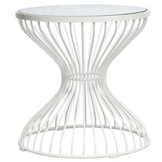 Fine Mod Glass Squeezed Side Table