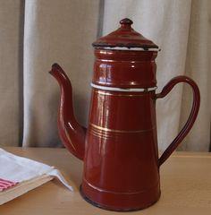 キッチンキッチンアンティークヴィンテージフランスのほうろうエナメルコーヒービギンポット| eBayの