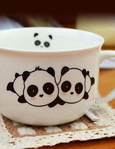 Panda Taza, 8oz Porcelana                                                                                                                                                                                 Más