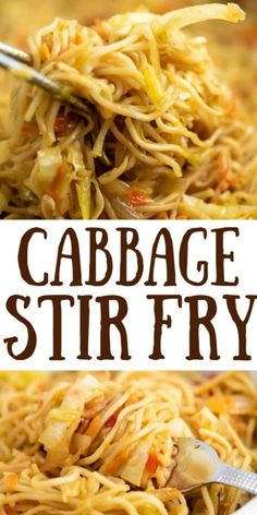 Ramen noodle cabbage stir fry recipe. Top with sweet chili sauce! My family absolutely loves this recipe! Cabbage And Noodles, Pork And Cabbage, Cabbage Stir Fry, Fried Cabbage, Cabbage Recipes, Recipe For Chicken And Cabbage, Ramen Noodle Recipes, Stir Fry Recipes, Cooking Recipes