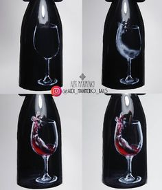 "#nailarttutorial #wineglassnailart МАСТЕР КЛАССЫ (video, foto MK) (@masterclass_nailartclub) on Instagram: ""Какой бокал вам нравится больше? А Вы что хотите красненького или шампусика? Repost…"""