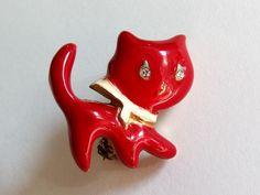 Kleine Brosche rote Katze mit Strassaugen in Antiquitäten & Kunst, Antikschmuck, Schmuck & Accessoires | eBay 9