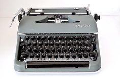 Vintage Typewriter Olympia De Luxe Germany
