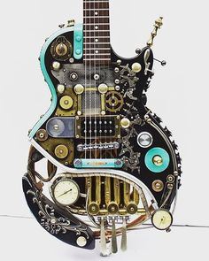 I know it's fender Friday but had to share this super cool #steampunk #lespaul…