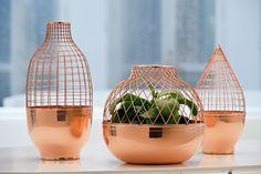 Sélection Cuivre et design / Collection de vases Grid - design Jaime Hayon pour Gaia & Gino / Yooko: Design, décoration & architecture d'int...