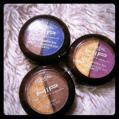 L'Or?al eyeshadow L'Or?al hip eyeshadow  Used Makeup Eyes Bright Gold, tan, blue, purple L'Or?al  Makeup Eyeshadow