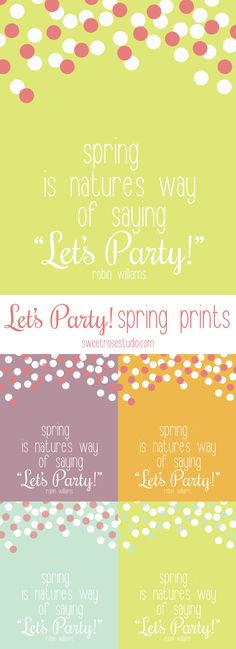 Lets Party Spring Prints at Sweet Rose Studio