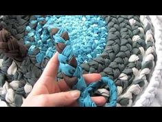 How-To: Bathroom Rug from Fabric Braids - YouTube