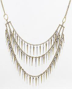 #SheInside Individual Vintage Multilayer Spike Necklace - Sheinside.com