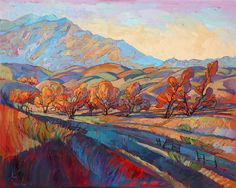 Temecula wine country oil painting by contemporary expressionism artist Erin Hanson