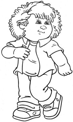 Cabbage Patch Kids | Children\'s Coloring Books ❤♡❤ | Pinterest ...
