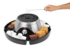 Electric S'mores Maker...Experience the interactive fun of S'mores all year 'round with the Electric S'mores Maker. This indoor roaster is safe, with no open flames. Instead, a stainless steel electric heater toasts marshmallows to gooey perfection for camp-worthy treats your family will love.  $59.99