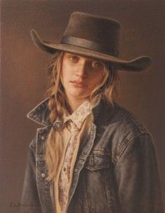 33a89bced69f Prix de West ~ Carrie L. Ballantyne, Wyoming Flower Child, oil Contemporain,