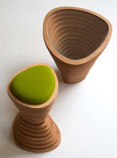 The Janina Loeve Tettonica #Stool and #Table are Nature-Inspired trendhunter.com