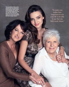 3 generations...beautiful! Love the pose