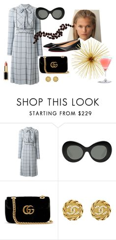 """""""naif look day"""" by wentejeida on Polyvore featuring moda, Valentino, Elizabeth and James, Gucci, Chanel y Christian Louboutin"""