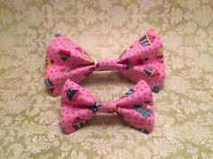 Birthday Cupcake Pet Collar Bowtie 2328 by HemptressDesigns