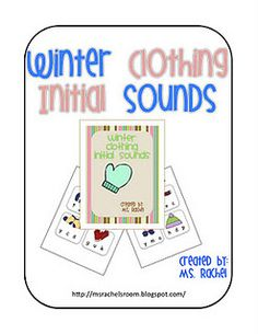 Winter Clothing Initial Sounds