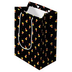 #Halloween Candy Corn Pattern Medium Gift Bag - #halloween #candy #craft #supplies #party #ideas #idea