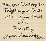 Sparkle Accessories Birthday Greeting