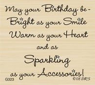 Sparkle Accessories Birthday Greeting