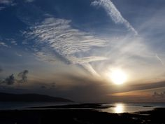 Co. Clare: sunset over Black Head, from Finavarra.