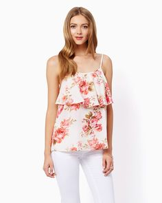 charming charlie   Summer Fresh Floral Tank   UPC: 3000734606 #charmingcharlie