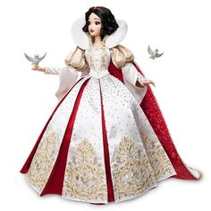 Snow White Saks Fifth Avenue Doll - Snow Images and Description Disney Barbie Dolls, Disney Princess Dolls, Disney Animator Doll, Snow White Wedding Dress, Snow White Dresses, Wedding Dresses, Snow White Makeup, Snow White Characters, Snow White Cosplay