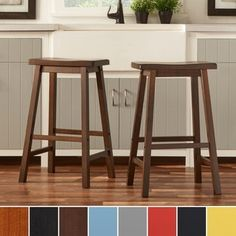 Salvador Saddle 29-inch Counter Height Backless Stools by INSPIRE Q (Set of 2) | Overstock.com Shopping - The Best Deals on Bar Stools