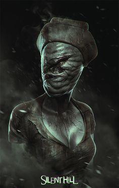 nurse from silent hill by soufiane idrassi | Fan Art | 3D | CGSociety