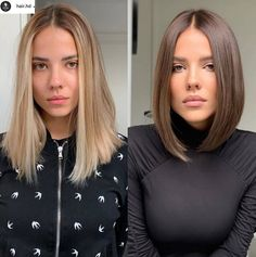Long To Short Hair, Gorgeous Hair Color, Shot Hair Styles, Lob Haircut, Aesthetic Hair, Hair Transformation, Great Hair, Hair Videos, Balayage Hair