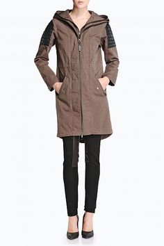 #Mackage Aude trench coat in Military