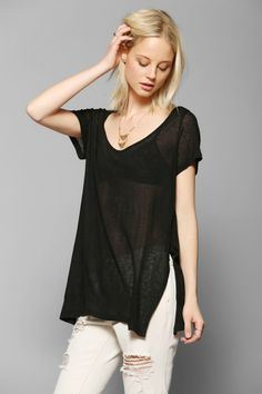Silence + Noise Side-Slit Perfect Tee