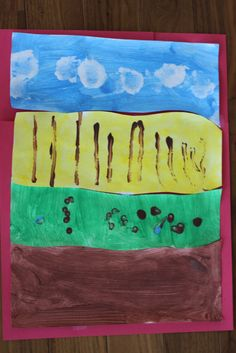 Playing House: Toddler Art: Painting a Farm