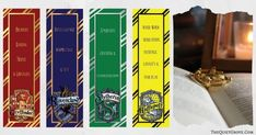 Are you a Harry Potter Fan? Then you will love these Free Harry Potter Printable Bookmarks! There is one for each of the 4 Hogwarts Houses! Harry Potter Printable Bookmarks, Harry Potter Bookmark, Harry Potter Symbols, Free Printable Bookmarks, Harry Potter Printables, Slytherin Harry Potter, Harry Potter Facts, Harry Potter Diy, Harry Potter Movies