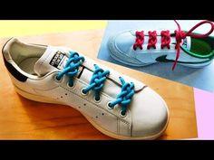 〔靴紐の結び方〕マークのような編み模様が美しい靴ひもの通し方 丸ひも編 あやつなぎ how to tie shoelaces 〔生活に役立つ!〕 - YouTube Ways To Lace Shoes, How To Tie Shoes, Funny Shoes, Cute Shoes, Ways To Tie Shoelaces, Shoe Lacing Techniques, Creative Shoes, Lace Art, Mode Outfits