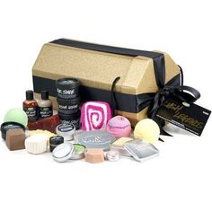 Lush Cosmetics Gift Basket $200.00... i would be in heaven if someone gave me this ha ha
