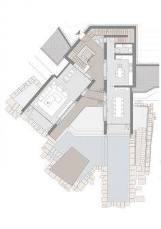 Gallery of Vıcem Bodrum Resıdences / Emre Arolat Architects - 32 Plot Plan, Villa Plan, Site Plans, Architecture Plan, House Layouts, Plan Design, Building Plans, House Floor Plans, Planer