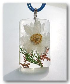 Resin Necklace Handmade Jewelry Resin with Real by Annysworkshop, $15.00