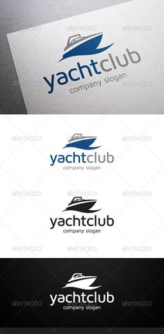 Yacht Club Logo #GraphicRiver Description Yacht C