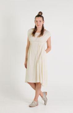Umit Unal   Et Vous   Linen Empire Line Dress Lemon