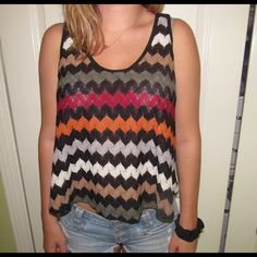 Woven multicolor top Earthy tones, very comfortable fabric WORN ONCE Urban Outfitters Tops