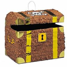 12 inch Pirate Treasure Chest Pinata and Decoration Centerpiece by Cool Novelty Products. $18.99. Treasure Chest Pinata. A fun addition to any party is one of our Pinata's. Available in a large selection themes and sizes. This Treasure Chest is 12'' x 10 1/2''. Packed individually in a clear poly bag. Please order in increments of 1 piece. Don't forget to order your pinata toy and candy filler Item CAN025UN and pinata bat and mask DEC020EA and add to the fun.