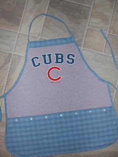 Cubs Apron or Adult Bib by funfoodsaprons on Etsy
