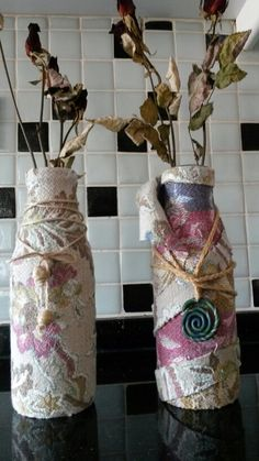 Bottle wrapped cotton