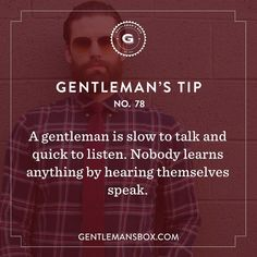 Some sound fatherly advice in honor of this month's box theme #GentlemansBox #BeSavvy #GentlemansTip #WednesdayWisdom