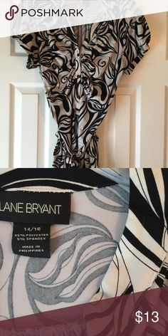 Lane Bryant black and cream print top Cute black and cream pint top in great condition from a smoke free and dog friendly home. Lane Bryant Tops