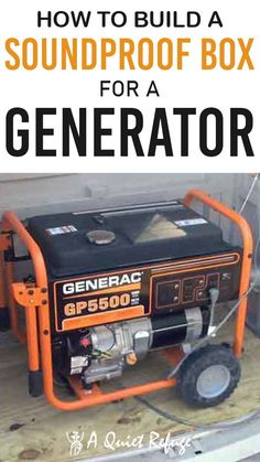 Generators are a lifesaver but sometimes they can be too noisy and disrupt the peace. Here's how to build a soundproof box for a generator for a quiet time. Generator Shed, Portable Generator, Soundproof Box, Diy Rv, Dyi, Building A Wooden House, Natural Gas Generator, A Frame House, Emergency Supplies