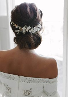 VERSAILLES floral wedding headpiece | TANIA MARAS